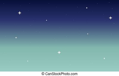 abstract blue green sky with stars