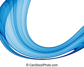 abstract blue wave - high quality rendered image
