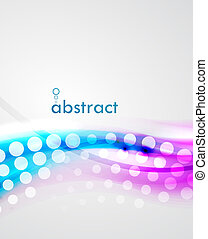 Blur violet and blue dotted wave abstract eps10 vector background