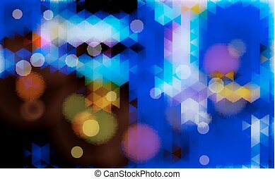 Abstract blurred blue vector background.