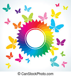 Abstract bright background with but