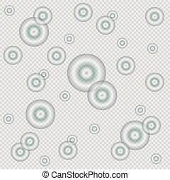 Abstract bubbles background with transparent colors