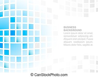 Abstract business background with place for your content, blue square mosaic pattern.