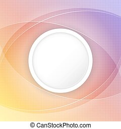 Abstract colorful vector background with circular space for your content and grid.