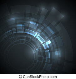Abstract dark blue technical background with place for your text