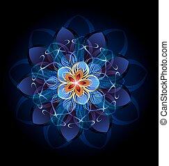 abstract dark flower