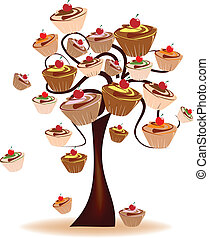 Abstract Design - Tree decorated with sweets