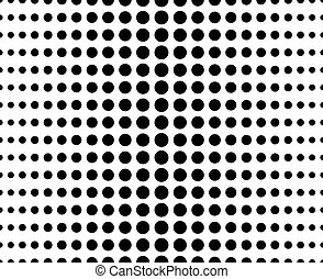 Abstract dotted (half tone) monochrome pattern, background