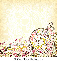 Abstract Floral Swirl