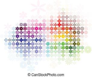 Digital flower arrangement in spectrum color.