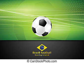Abstract football background with soccer ball