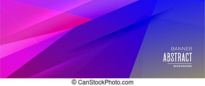 abstract geometric shapes banner in vibrant colors