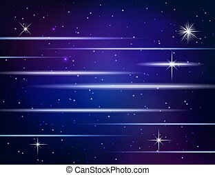 Abstract glowing background with stars