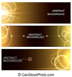 Abstract Glowing Banner Set