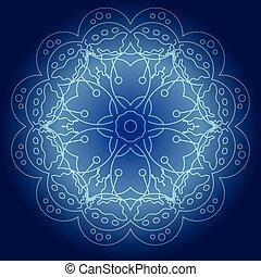 Abstract glowing mandala vector illustration