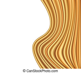 Abstract gold background luxury cloth wave. Vector illustration
