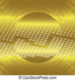 Abstract gold technical circle dots