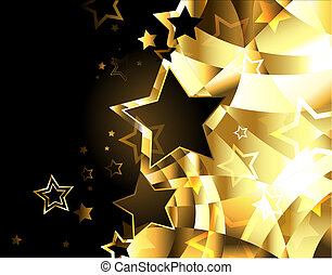 Abstract golden background with stars