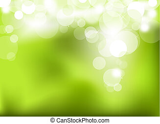 Abstract green glowing background