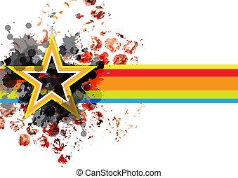 abstract grunge star banner background