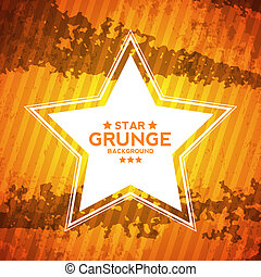 Abstract Grunge Textured Background with Star