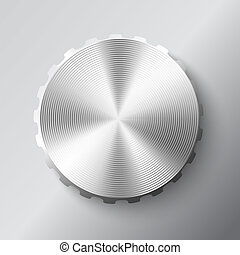 Abstract metal round button