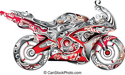 Abstract Motorbike