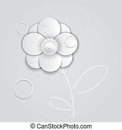 abstract paper flower