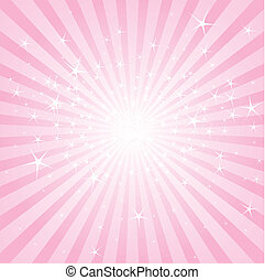 Abstract pink stars and stripes