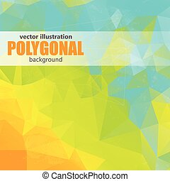 Abstract polygonal backgroun. Low poly design . Polygonal vector background. Futuristic design.