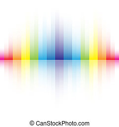 The beautiful gradient rainbow colors background for design