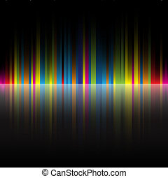 The beautiful gradient rainbow colors black background for design