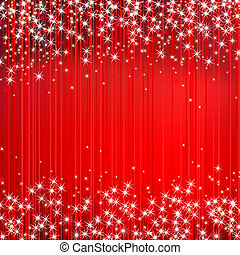 Abstract red vector background with star