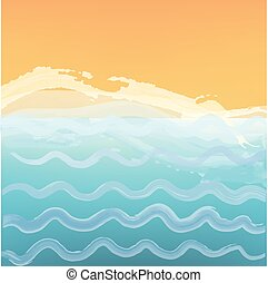 Abstract sea or ocean background with a beach.