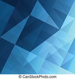 Abstract triangles blue background. Vector, EPS10