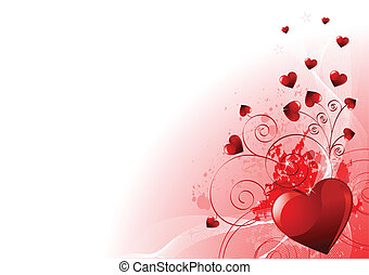Abstract Valentines Day background with hearts. Place for copytext