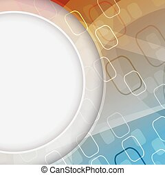 Abstract vector background with a rectangular pattern and circular space for your content.