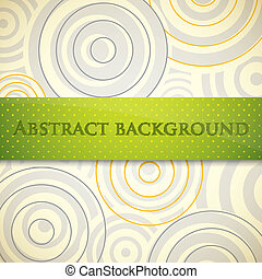 abstract vector background with circles and green label