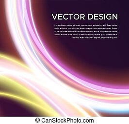 Abstract vector background with glowing curves