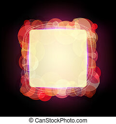 Abstract vector frame with shining circles