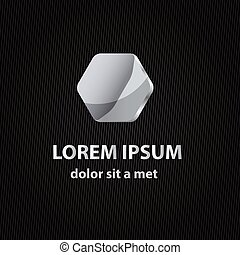 Abstract vector icon with background