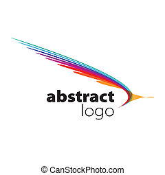 abstract vector logo spectrum curved sheets