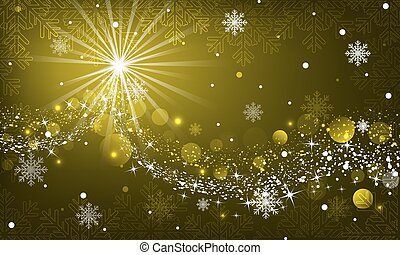 Abstract vector winter glowing background with snowflakes.
