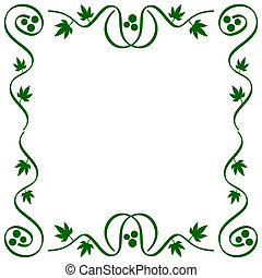 abstract vine frame