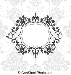 abstract vintage frame vector illustration