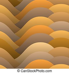 Abstract warm color waves