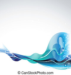 abstract waves design