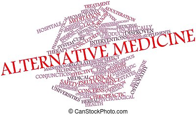 Abstract word cloud for Alternative medicine with related tags and terms