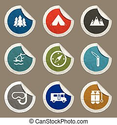 Active recreation icon set