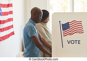 African-American People Voting in USA